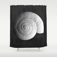 shell Shower Curtains featuring Shell by Studio Art Prints