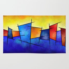 Esseniumos V1 - square abstract Rug