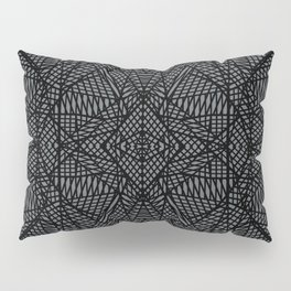 Ab Lace Black and Grey Pillow Sham