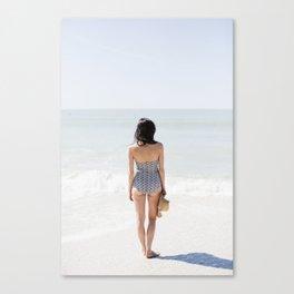 Woman On Beach Canvas Print