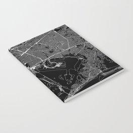 Queens Black Map Notebook