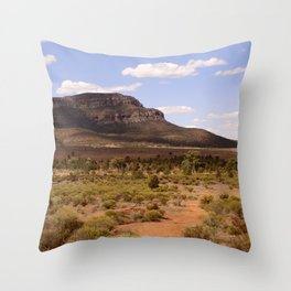 Rawnsley Bluff in the Australian Flinders Ranges Throw Pillow