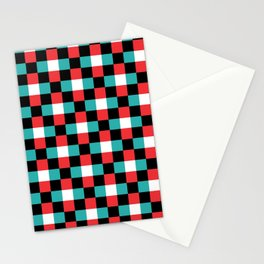 Pixeled Squares Stationery Cards