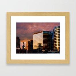 South Boston sky Framed Art Print