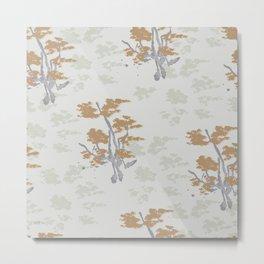 zen bonsai neutral greige Metal Print