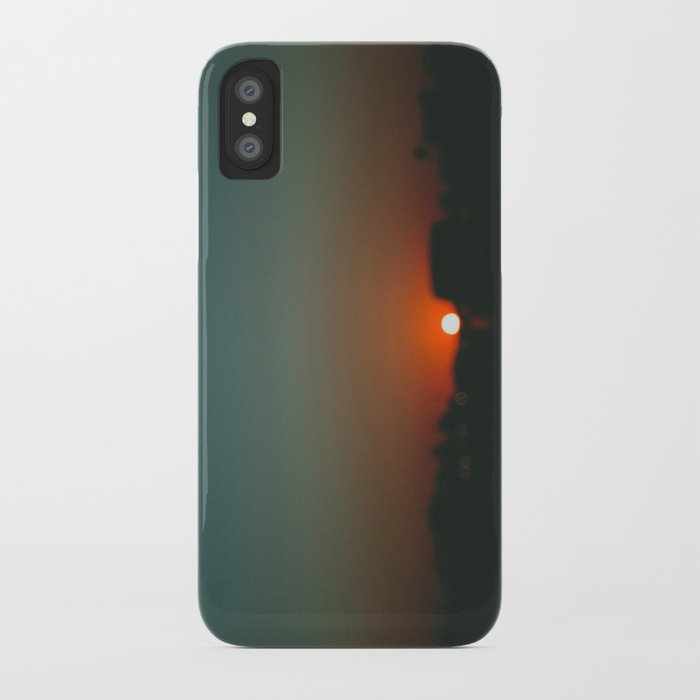 west at sunset iPhone Case