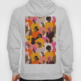 Female diverse faces pink Hoody