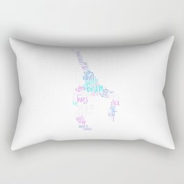 Word Cloud Gymnast Rectangular Pillow