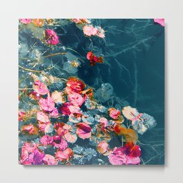 Flowers Floating in A Remote Pond Metal Print