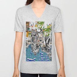 Oli Goldsmith Portrait of The Artist as His Art Unisex V-Neck