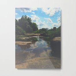 Rocks at the James Metal Print