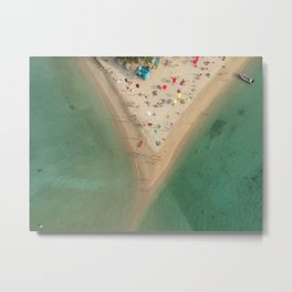 Aerial Koh Phangan Beach Thailnad Metal Print
