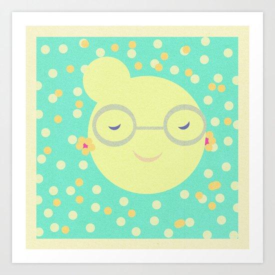 MISS SUNSHINE IN GLASSES Art Print