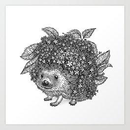 Elderberry Hedgehog Art Print