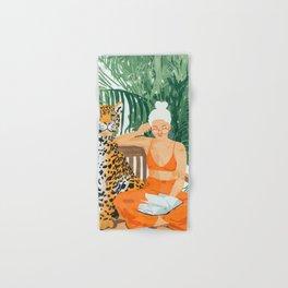 Jungle Vacay #painting #illustration Hand & Bath Towel
