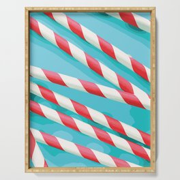 Christmas Candy Stripes Serving Tray