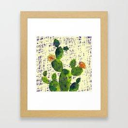 weird cactus Framed Art Print