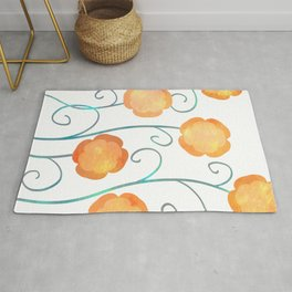 Silly Poppies Rug
