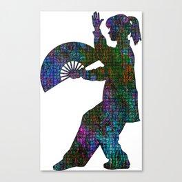 Tai Chi Fan Canvas Print