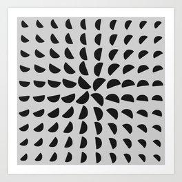 Half Moon Pattern Art Print