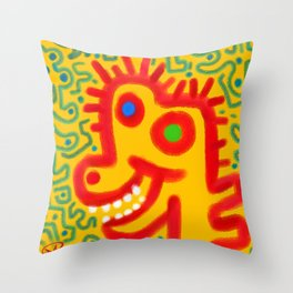 derick dino does the dipsy-doo Throw Pillow