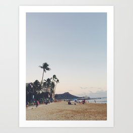 Hawaii Beach Mountain Art Print