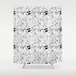 It's Always Sunny Illustration Pattern Shower Curtain