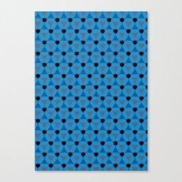 Reception retro geometric pattern Canvas Print