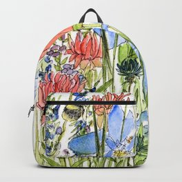 Botanical Garden Wildflowers and Bees Backpack
