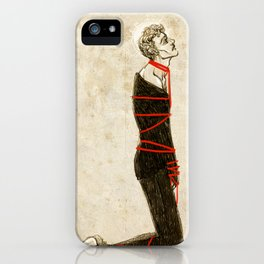 Like a startled dying man iPhone Case