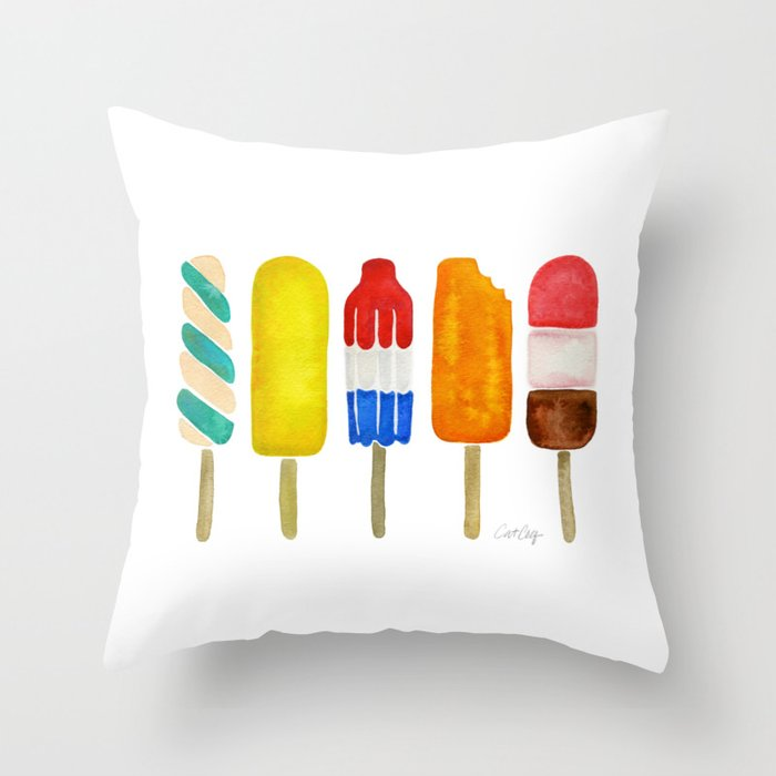 Popsicle Collection Throw Pillow