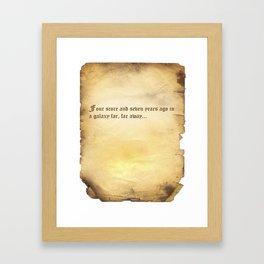 Four Score (Star Wars) Parchment Framed Art Print