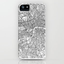 London Map White iPhone Case