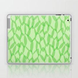 Overlapping Leaves - Light Green Laptop & iPad Skin