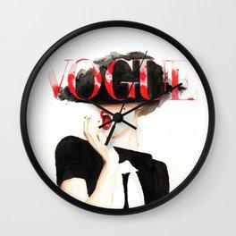 Vogue Magazine Cover. Frida Gustavsson. Fashion Illustration. Wall Clock