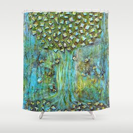 Turquoise home Shower Curtain