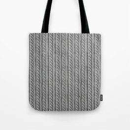 Grey Knit feeling Tote Bag