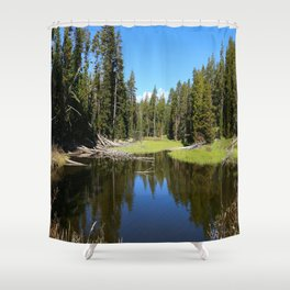 Morning Serenity At The Yellowstone NP Shower Curtain