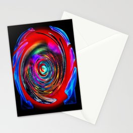 Creations in the color spectrum of the rainbow 4 Stationery Cards