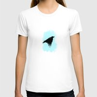 raven T-shirts featuring Raven by TwO Owls