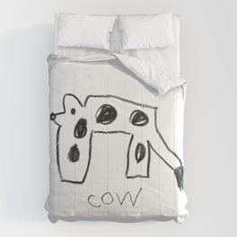 My Cow Drawing Comforters