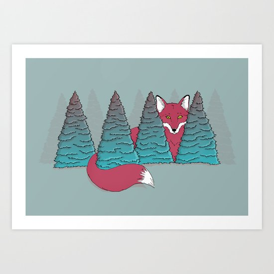 Spruce Fox Art Print