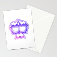 Punk Triangle Skull - Purple Stationery Cards