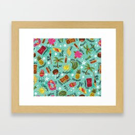 It's A Tiki Party! Framed Art Print