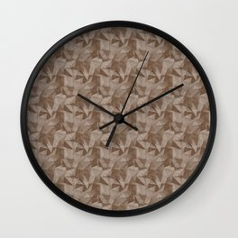 Abstract Geometrical Triangle Patterns 2 Benjamin Moore 2019 Trending Color Kona Chocolate Brown AF- Wall Clock