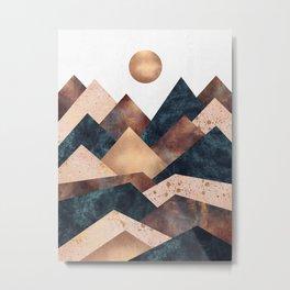Autumn Peaks Metal Print
