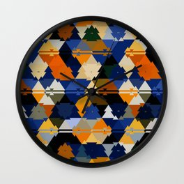 colorful tiles Wall Clock