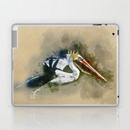 Watercolor Brown Pelican Laptop & iPad Skin