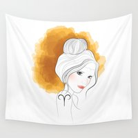 aries Wall Tapestries featuring Aries by Victoria Rosas