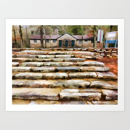 Concreter steps at Cheaha Park Art Print